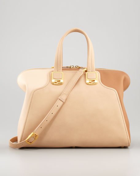 Chameleon Large Tote Bag, Powder/Blush/Barley