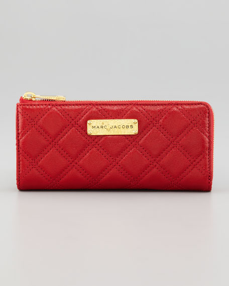 Lex Continental Wallet, Red