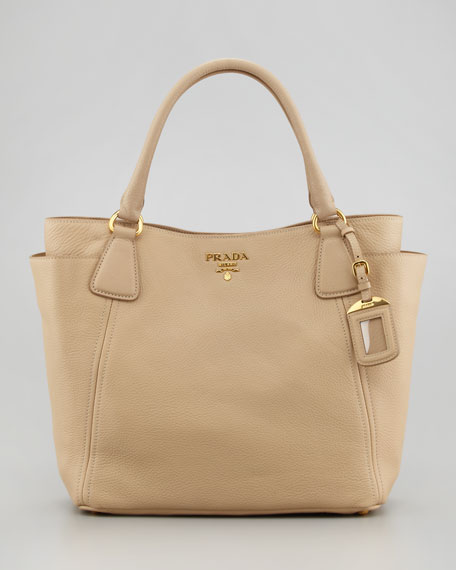 Daino Side-Pocket Tote Bag, Light Camel