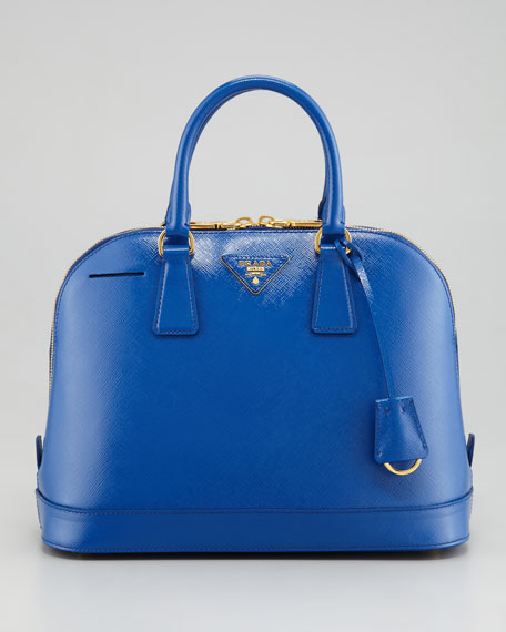 Prada Saffiano Promenade Handbag, Bright Royal Blue
