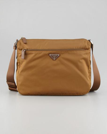 Nylon Hobo Bag, Tobacco Medium Brown