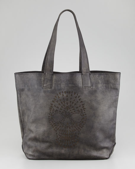 Skull Tote Bag, Black