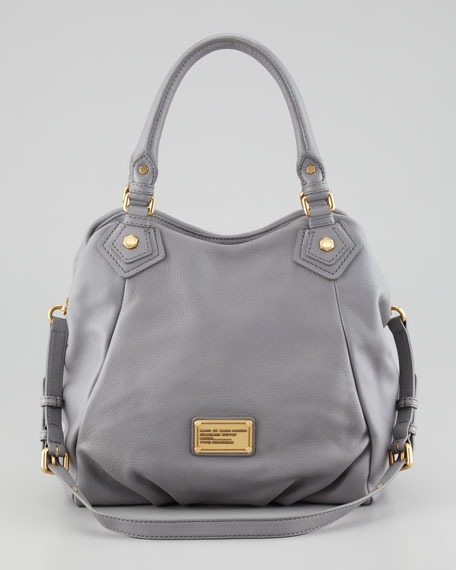 Classic Q Francesca Calfskin Tote Bag, Light Gray