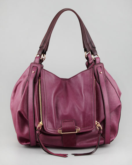 Jonnie Hobo Bag, Magenta