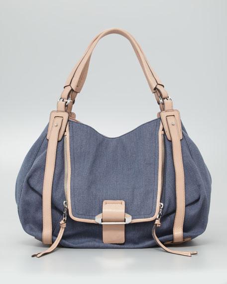 Jonnie Hobo Bag, Denim Blue