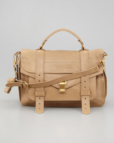 PS1 Leather Medium Mailbag, Sahara