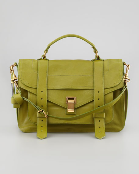 PS1 Medium Satchel Mailbag, Olive