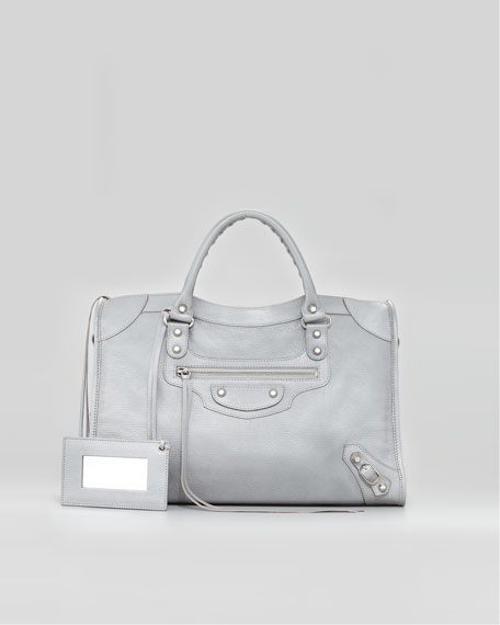 Classic Silver Pearly Bag, Gris