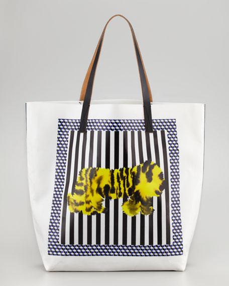 Tiger-Print Tote Bag