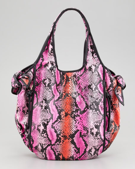 Carmine Knot Tote Bag, Pink