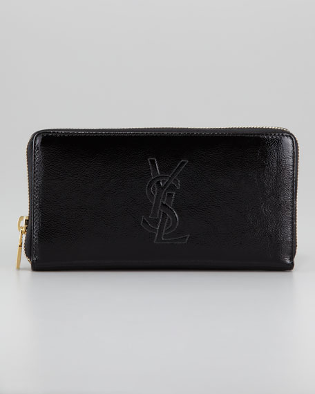 Belle De Jour Zip Wallet, Black