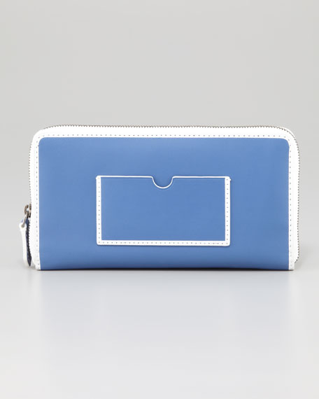 Large Colorblock Zip-Around Wallet