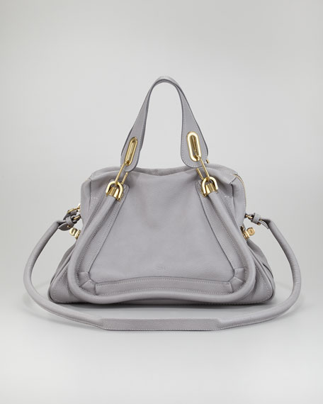 Paraty Medium Satchel Bag, Dark Gray