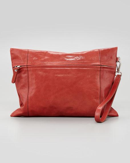 Large Flat Wristlet Bag, Poppy