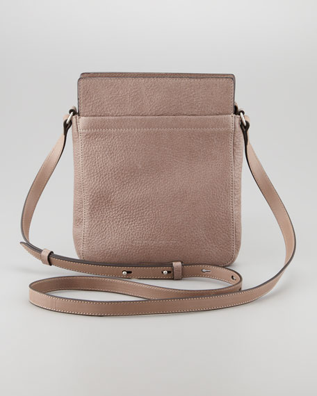 Small Leather Crossbody Bag, Cocoa