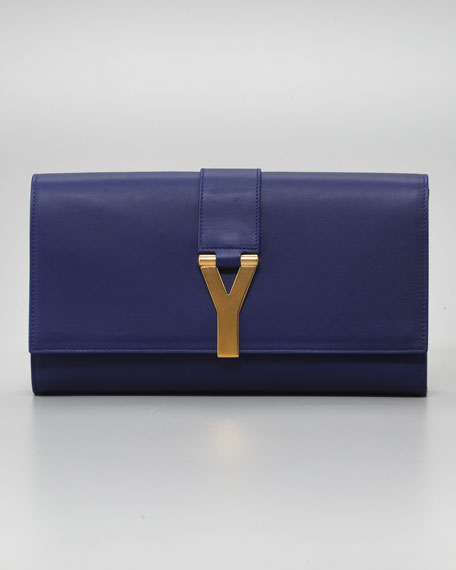 Y Ligne Clutch Bag, Blue