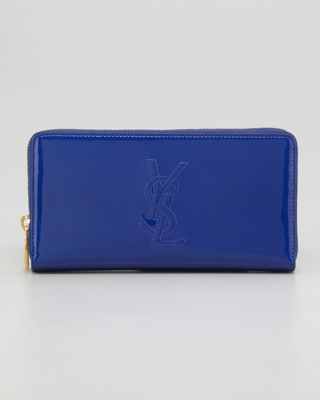 Belle De Jour Zip Wallet, Blue