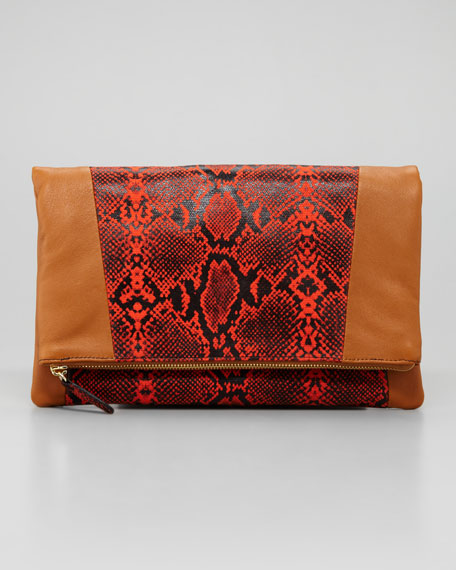 Nixie Clutch Bag, Dark Brown