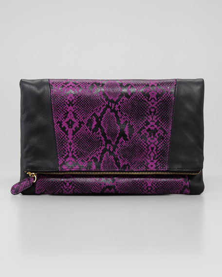 Nixie Clutch Bag, Purple