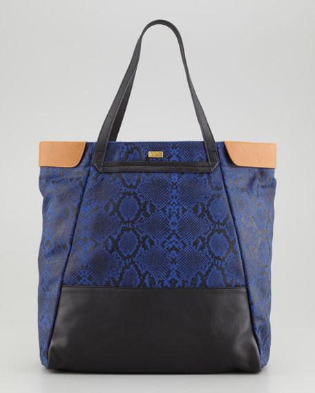 Nixie Tote Bag, Cobalt