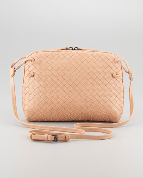 Veneta Small Crossbody Bag, Light Camel