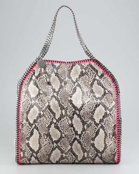 e081107d41 Stella McCartney Falabella Large Snake-Print Tote Bag