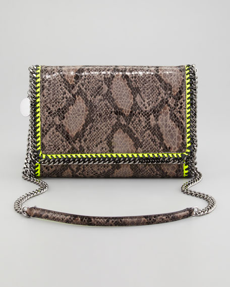 Faux Python Falabella Shoulder Bag, Gray