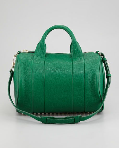 Rocco Stud-Bottom Duffel Bag, Green