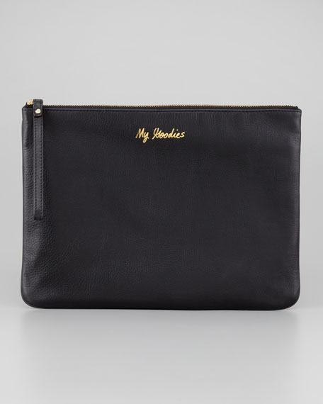 Lissa Sayings Pouch, Black