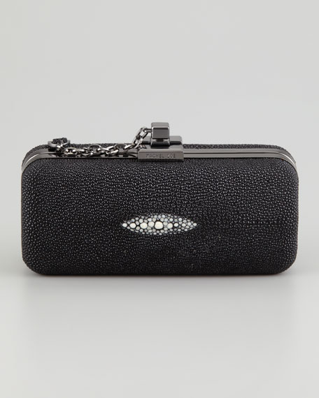 Margaux Minaudiere Clutch Bag, Black