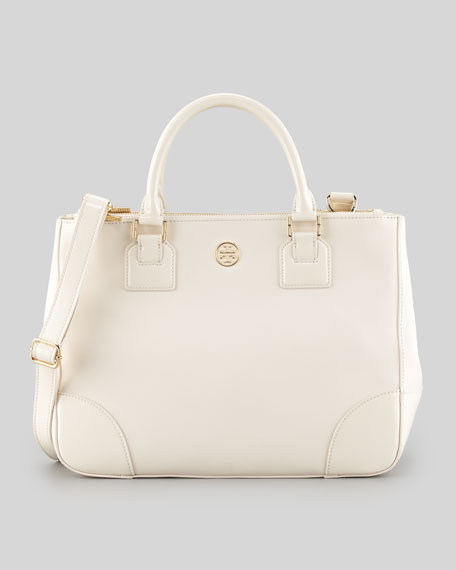 Robinson Double-Zip Tote Bag, Bleach White