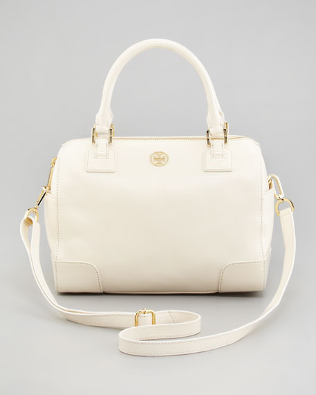 Robinson Middy Satchel Bag, Bleach White