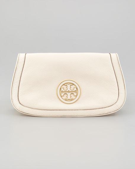Amanda Logo Clutch Bag, Bleach White