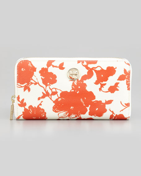 Robinson Floral-Print Continental Zip Wallet