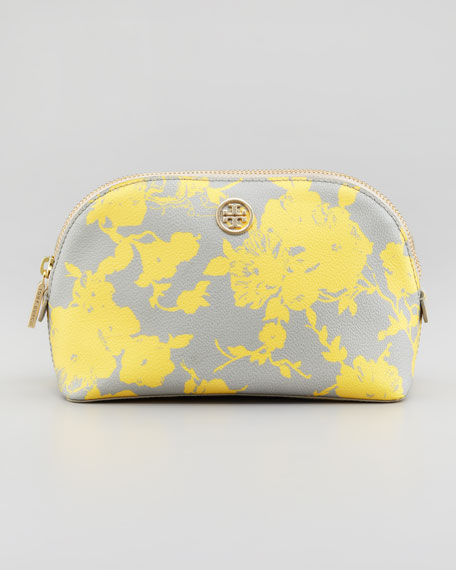 Robinson Floral-Print Cosmetic Case, Yellow Multi