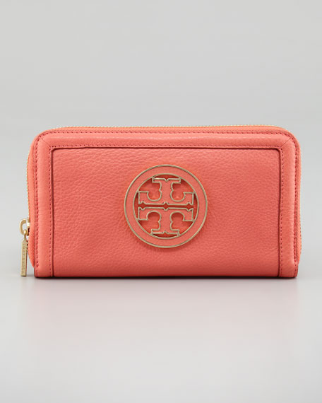 Amanda Continental Zip Wallet, Strawberry