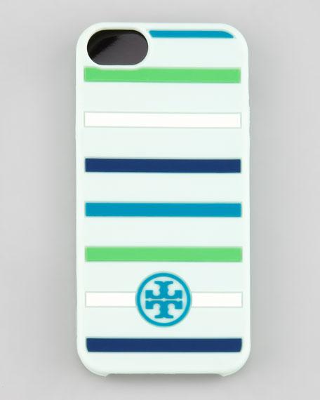 Classic Stripe Silicone iPhone 5 Case, Mint