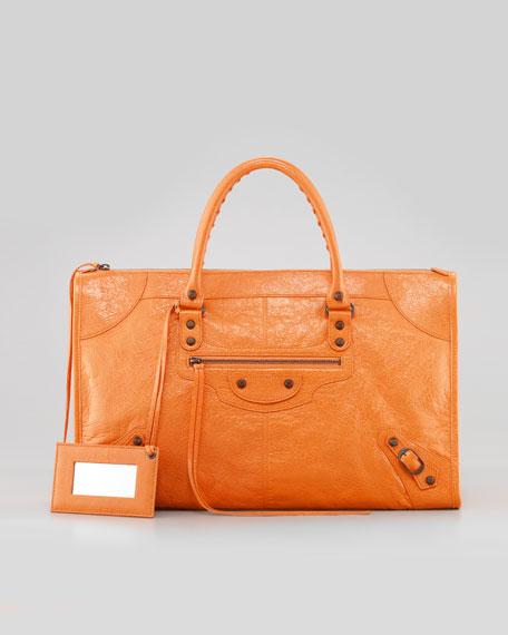 Classic Work Bag, Tangerine