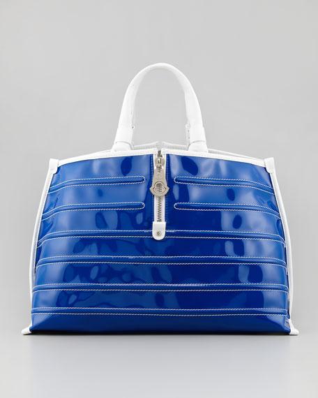 Amelie Patent Tote Bag, Purple