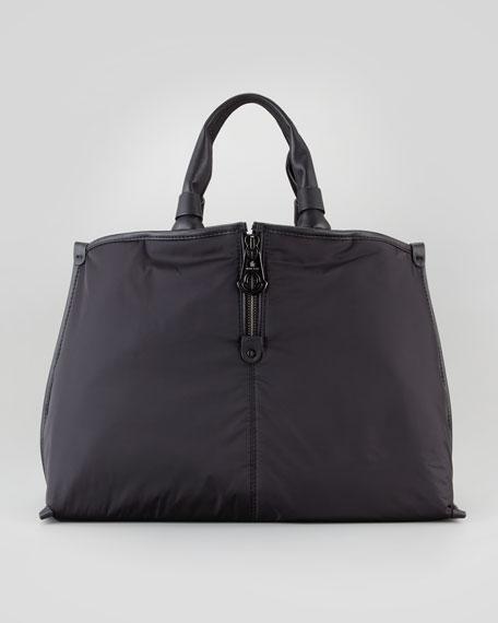 Amelie Nylon Tote Bag, Black