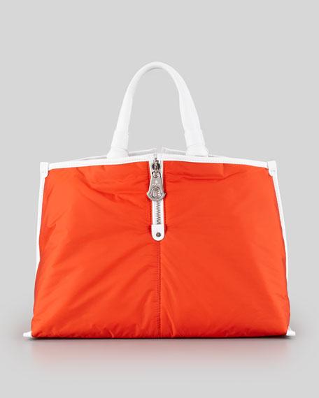 Amelie Nylon Tote Bag, Orange