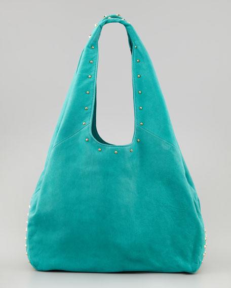 Sienna Studded Hobo Bag, Teal