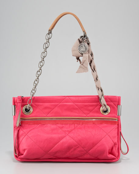 Amalia East-West Zip-Top Tote Bag, Medium