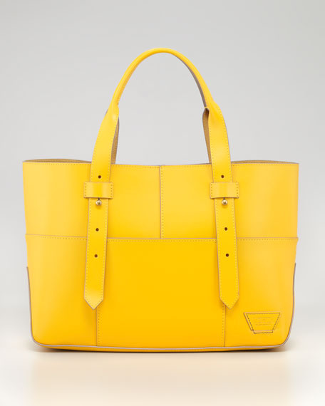 Harrison Street Tote Bag, Lemon/Gray