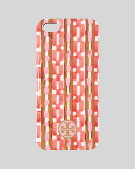 Painted Link Hard Shell iPhone 5 Case, Orange Check