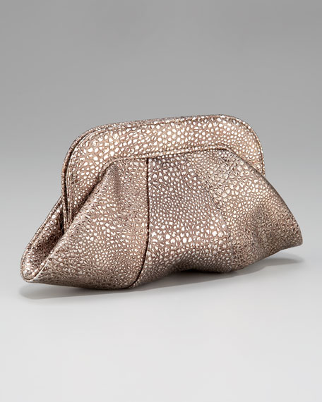 Lucy Metallic Bubble Clutch