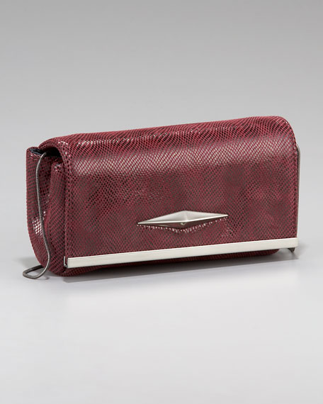 Essex Lizard-Embossed Clutch