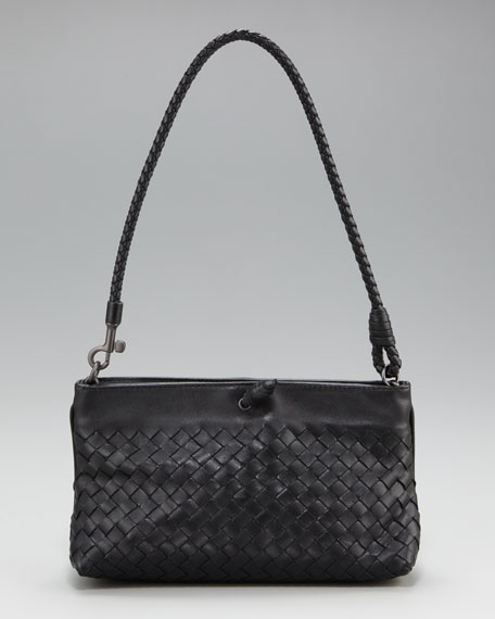 Woven Leather Baguette