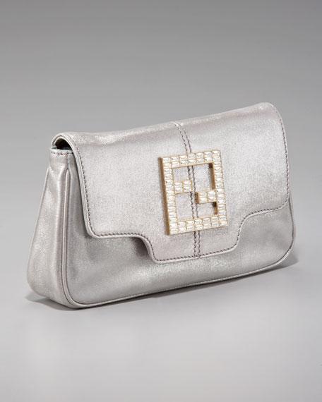 Crystal Zucca Flap-Top Clutch