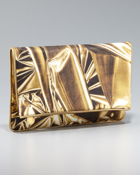 Printed Soft Fold-Over Clutch